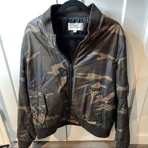 Coach men's camo bomber jacket